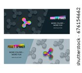 vector banner with fidget... | Shutterstock .eps vector #676154662