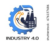 industrial4.0 cyber physical... | Shutterstock .eps vector #676157686