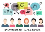 raster copy. banner of speaking ... | Shutterstock . vector #676158406