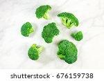 Vibrant Green Broccoli Florets  ...