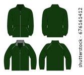 green color autumn fleece... | Shutterstock .eps vector #676161412