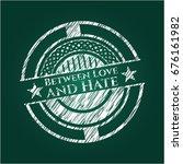between love and hate written... | Shutterstock .eps vector #676161982