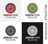arrow star logo template | Shutterstock .eps vector #676167706