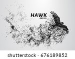 hawk of the particles. the... | Shutterstock .eps vector #676189852