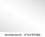 abstract halftone dotted... | Shutterstock .eps vector #676190386