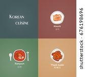 korean dishes set vector....   Shutterstock .eps vector #676198696