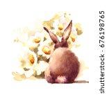 Cute Baby Bunny Rabbit Smellin...