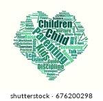child parenting wordcloud... | Shutterstock .eps vector #676200298