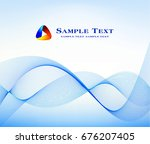 abstract blue background  | Shutterstock .eps vector #676207405