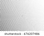 abstract halftone dotted... | Shutterstock .eps vector #676207486