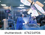 operating surgeons in the... | Shutterstock . vector #676216936