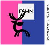 fawn  logo   Shutterstock .eps vector #676217896