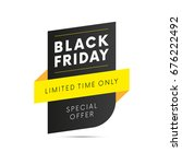 black friday sale. yellow style.... | Shutterstock .eps vector #676222492