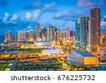 miami  florida  usa downtown... | Shutterstock . vector #676225732