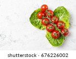 ripe red cherry tomatoes on...   Shutterstock . vector #676226002
