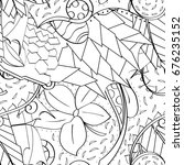 tracery seamless pattern.... | Shutterstock .eps vector #676235152