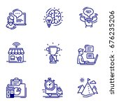 business icon set | Shutterstock .eps vector #676235206