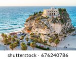 former 4th century monastery on ... | Shutterstock . vector #676240786