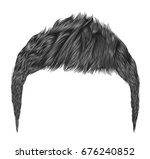 trendy man hairs gray colors... | Shutterstock .eps vector #676240852