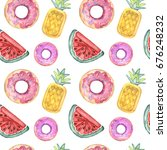 watercolor pattern with pool... | Shutterstock . vector #676248232