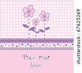 lovely pink baby card | Shutterstock .eps vector #67625269