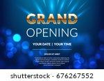 grand opening invitation... | Shutterstock .eps vector #676267552