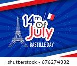 bastille day. vector background.   Shutterstock .eps vector #676274332