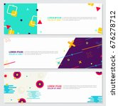 memphis style banner design set ... | Shutterstock .eps vector #676278712