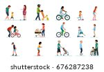 people generation. people of... | Shutterstock .eps vector #676287238