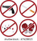 realistic warning signs. vector ...