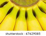 macro view of a bunch of bananas | Shutterstock . vector #67629085