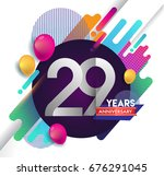 29 years anniversary logo with... | Shutterstock .eps vector #676291045
