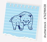 bear doodle | Shutterstock .eps vector #676298428