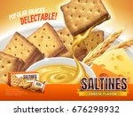 cheese filling saltines ad ... | Shutterstock .eps vector #676298932