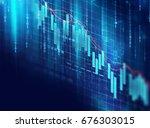 financial stock market graph on ... | Shutterstock . vector #676303015