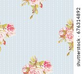 seamless floral pattern with... | Shutterstock .eps vector #676314892
