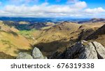 langdale valley viewed from... | Shutterstock . vector #676319338