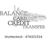 credit card balance transfer is ... | Shutterstock .eps vector #676321516