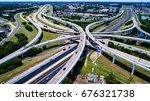highway interchange mopac... | Shutterstock . vector #676321738