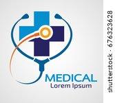 medical pharmacy logo design... | Shutterstock .eps vector #676323628