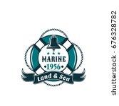 marine life buoy badge or... | Shutterstock .eps vector #676328782