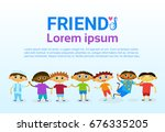 happy friendship day greeting... | Shutterstock .eps vector #676335205
