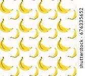 banana seamless pattern... | Shutterstock .eps vector #676335652