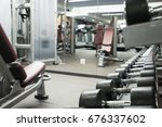 fitness club weight training... | Shutterstock . vector #676337602