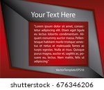 template black  red and white... | Shutterstock .eps vector #676346206