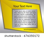 template silver  yellow and... | Shutterstock .eps vector #676350172