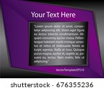 template purple  black and... | Shutterstock .eps vector #676355236