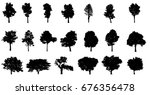 collections green tree isolated.... | Shutterstock . vector #676356478