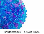 blue gel balls form a blue... | Shutterstock . vector #676357828