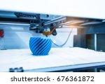 Modern 3d printer printing...